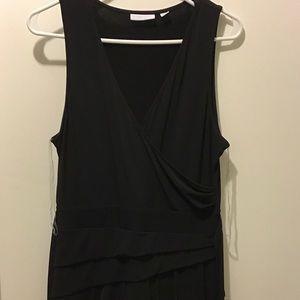 Black no sleeve dress